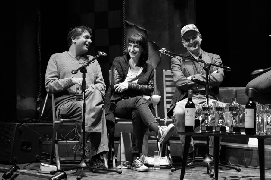 Imraan Coovadia, Sarah Lotz, Mike Carey by Retha Ferguson